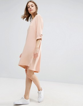 photo Crepe Dress by b.Young, color Pearl Blush - Image 1