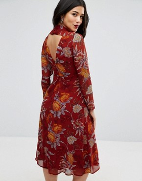 photo Midi Dress in Botanical Floral with Open Back by ASOS Maternity, color Floral - Image 2