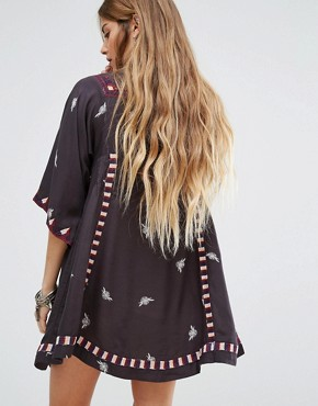 photo Embroidered Tulum Dress by Free People, color Black Combo - Image 2