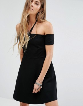 photo Black Mambo Off Shoulder Dress by Free People, color Black - Image 1