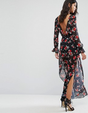 photo Floral Maxi Dress by Flynn Skye, color Rose Cluster Chiffon - Image 2