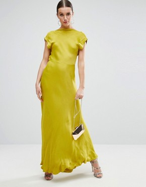 photo Open Square Back Maxi Dress by ASOS, color Yellow - Image 2