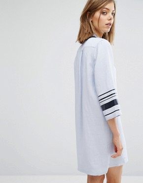 photo Caitlin Stripe Arm Shirt Dress by Wood Wood, color Kentucky Blue - Image 2
