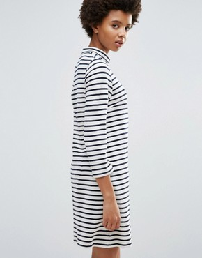 photo Mary Stripe Dress by Wood Wood, color Off White/Navy - Image 2