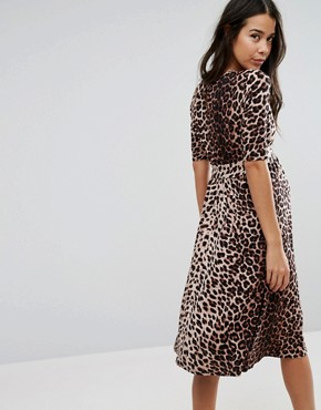 photo Midi Dress in Leopard Print by ASOS Maternity, color Natural Leopard - Image 2