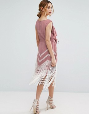 photo Fringe Hem Dress by ASOS Maternity, color Pink - Image 2