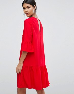 photo Dress with Frill Hem by Y.A.S, color Red - Image 2