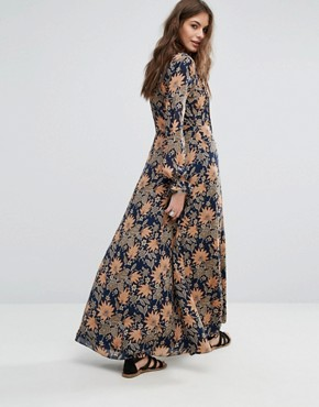 photo Tia Maxi Dress by Tularosa, color Himalayan Floral - Image 2