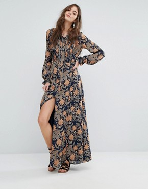photo Tia Maxi Dress by Tularosa, color Himalayan Floral - Image 1