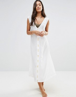 photo Eden Beach Maxi Dress by Zulu & Zephyr, color White - Image 2