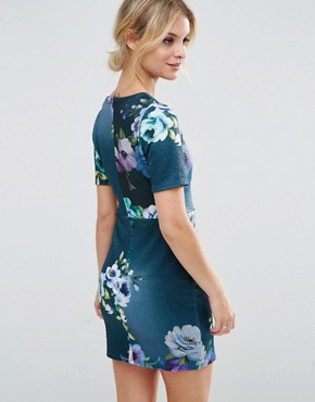 photo Floral Mini T-Shirt Dress by ASOS PETITE, color  - Image 2
