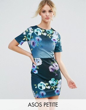 photo Floral Mini T-Shirt Dress by ASOS PETITE, color  - Image 1