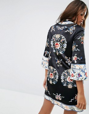 photo Embroidered Tunic Shift Dress by ASOS TALL, color  - Image 2