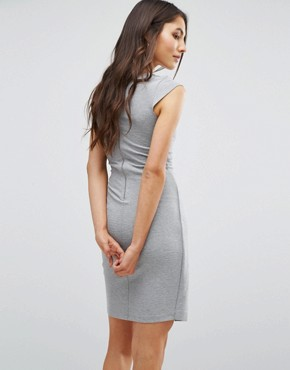 photo Manhattan Wrap Dress by French Connection, color Grey Mel - Image 2