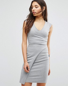photo Manhattan Wrap Dress by French Connection, color Grey Mel - Image 1