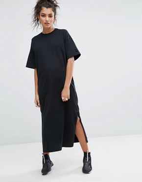 photo T-Shirt Maxi Dress In Black by Puma, color Puma Black - Image 2