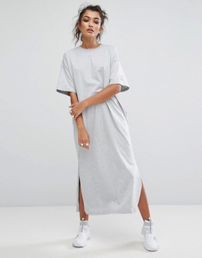 photo T-Shirt Maxi Dress In Grey by Puma, color Light Grey Heather - Image 2