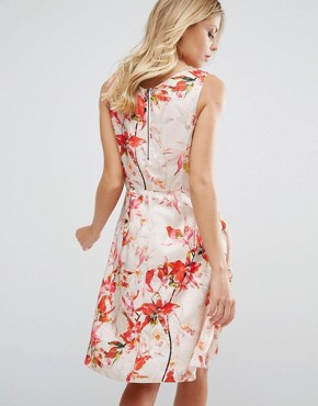 photo Floral Print Sleeveless Shift by BOSS Orange, color  - Image 2