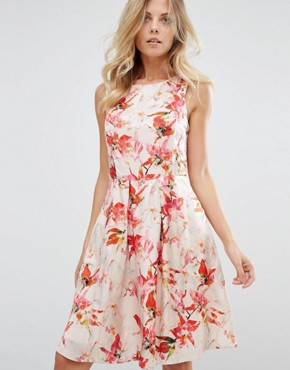 photo Floral Print Sleeveless Shift by BOSS Orange, color  - Image 1
