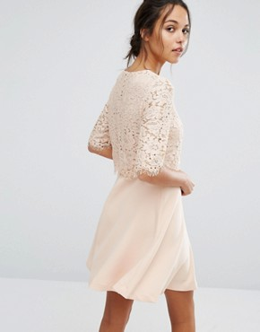 photo Lace Dress by Suncoo, color Nude - Image 2
