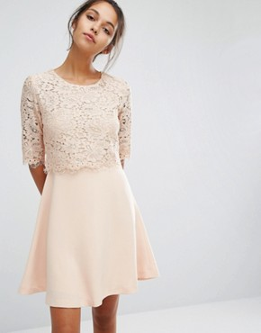 photo Lace Dress by Suncoo, color Nude - Image 1