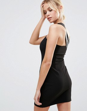 photo One Shoulder Bodycon Dress by Daisy Street, color Black - Image 2
