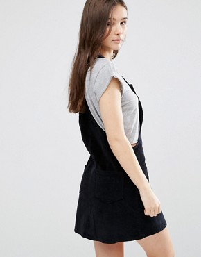 photo Cord Pinafore by Brave Soul, color Black - Image 2