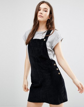 photo Cord Pinafore by Brave Soul, color Black - Image 1