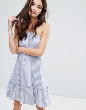 photo Haven Swing Dress by The Jetset Diaries, color Chambray Stripe - Image 1