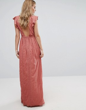 photo Getaway Maxi Dress by The Jetset Diaries, color Moss Coral - Image 2
