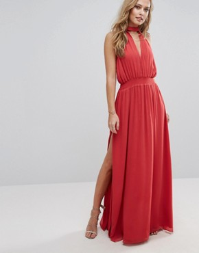 photo Shale Maxi Dress by The Jetset Diaries, color Papaya - Image 1