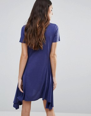 photo Swing Dress by First & I, color Deep Cobalt - Image 2