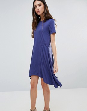 photo Swing Dress by First & I, color Deep Cobalt - Image 1