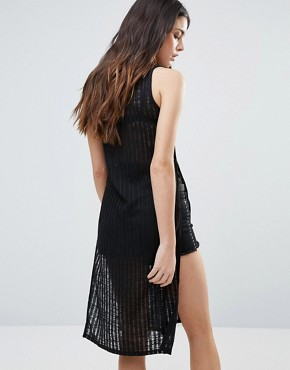 photo Sleeveless Dress by First & I, color Black - Image 2