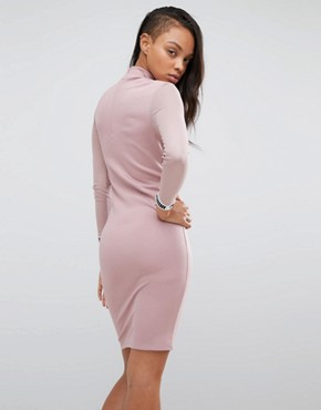 photo Bodycon Dress with Mesh Insert by Puma, color Woodrose - Image 2