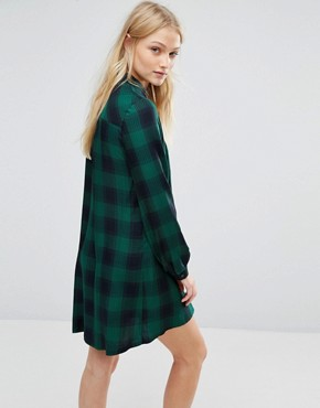 photo Checked Dress by New Lily, color Green/Black - Image 2