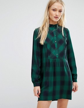 photo Checked Dress by New Lily, color Green/Black - Image 1