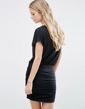 photo Ruched Jersey Dress by JDY, color Black - Image 2