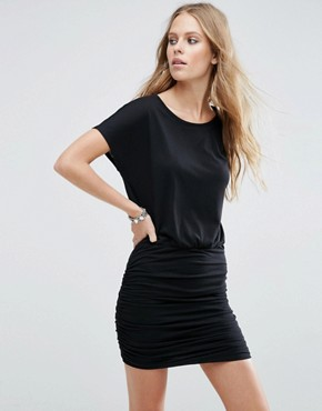 photo Ruched Jersey Dress by JDY, color Black - Image 1