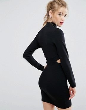 photo Cut Out Jumper Dress by New Look, color Black - Image 2