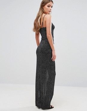 photo Glitter Maxi Dress by New Look, color Black - Image 2