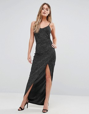 photo Glitter Maxi Dress by New Look, color Black - Image 1
