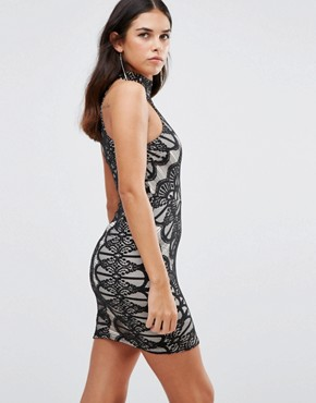 photo High Neck Lace Dress by Girl In Mind, color Black - Image 2