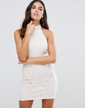 photo High Neck Lace Dress by Girl In Mind, color White - Image 1