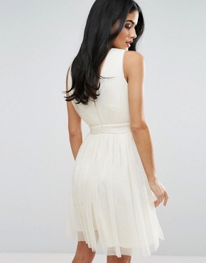 photo Embellished Prom Dress by Little Mistress, color Cream - Image 2