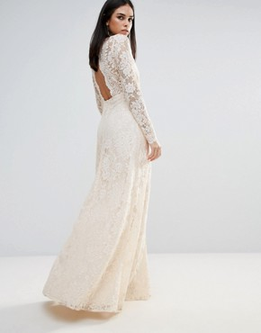 photo Pizzo Wrap Lace Insert Maxi Dress by The Jetset Diaries, color Blush - Image 2