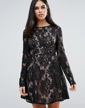 photo Pizzo Mini Dress by The Jetset Diaries, color Black - Image 1