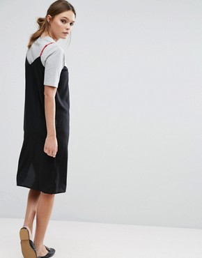 photo T-Shirt and Slip Dress by Influence, color Black - Image 2