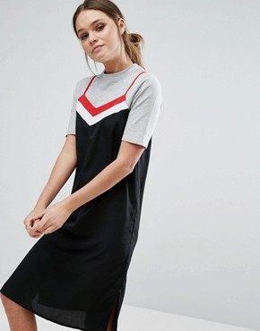 photo T-Shirt and Slip Dress by Influence, color Black - Image 1