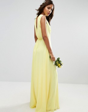 photo Maxi Dress by ASOS TALL WEDDING, color Yellow - Image 2